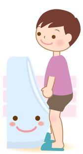 男性用小便器で家全体のトイレを清潔に保てる!